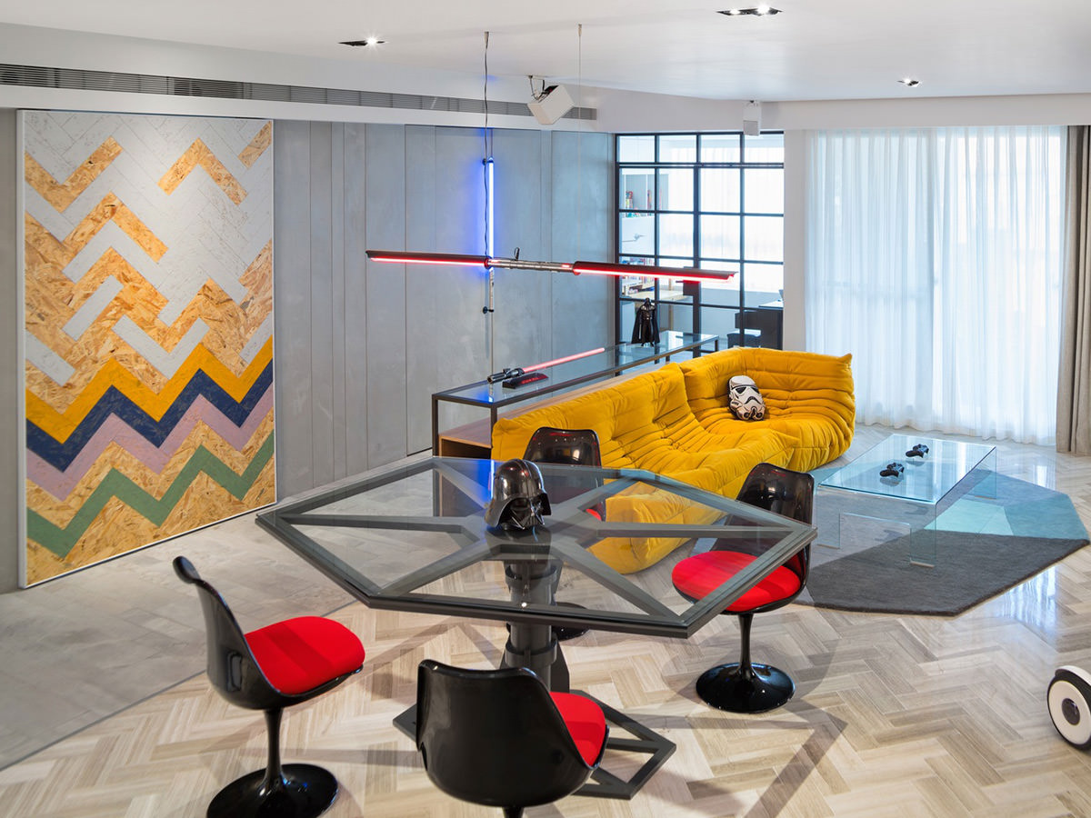 Star Wars Themed Apartment By White Interior Design Imboldn