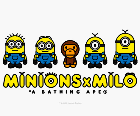 a bathing ape   minions x milo collection   imboldn