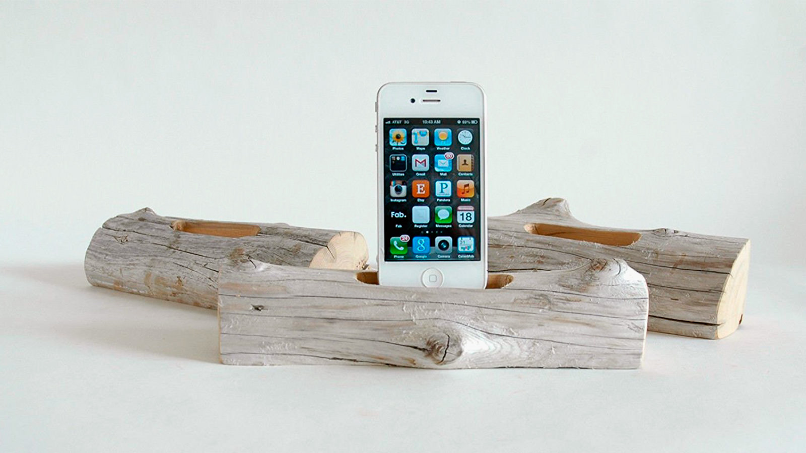 Driftwood cell phone charging station imboldn Cell phone charging station