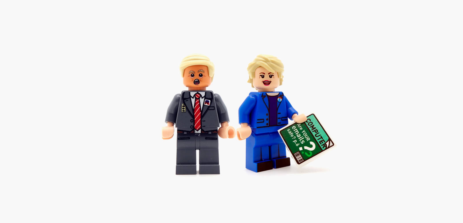 Trump & Clinton Custom Minifigure Set